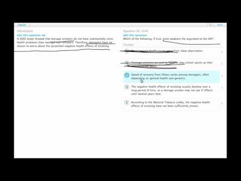 Grockit GMAT Verbal - Critical Reasoning: Question 3244