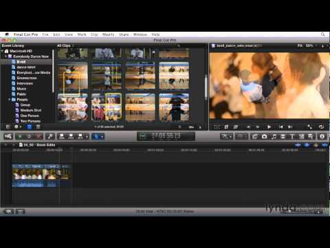 Getting started with Final Cut Pro X   lynda.com overview