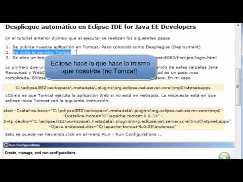 Java Web 5 Despliegue (Deployment) de la aplicación Web. Video Tutorial en Español.