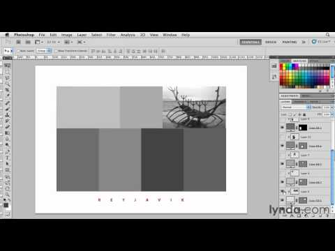 How to create photo grids with shape layers | lynda.com