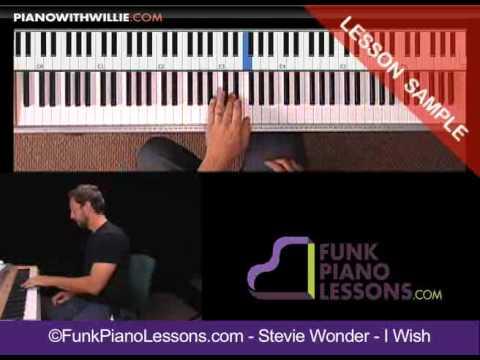"Stevie Wonder ""I Wish"" - Funk piano lesson"