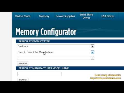Faster Vista! [HD] Ep. 8: Upgrade System Memory (RAM) Easily Using Corsair Memory Finder