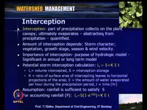 Mod-04 Lec-14 Hydrologic Processes
