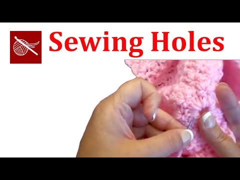 How to sew the center of a crochet hat cap shut
