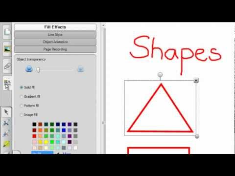 Use the shape recognition pen to draw basic shapes - tutorials for teachers - the virtual school