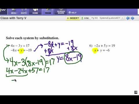 How to Solve Systems of Equations: Substitution