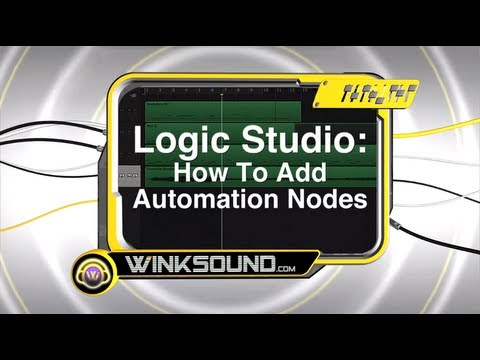 Logic Pro: How To Add Automation Nodes | WinkSound