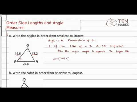 Order Side Lengths and Angle Measures
