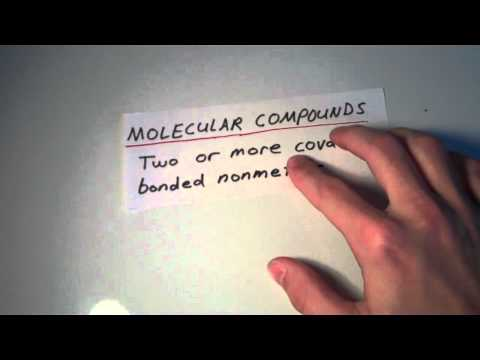 Atomic Elements, Molecular Elements, Molecular Compounds, and Ionic Compounds