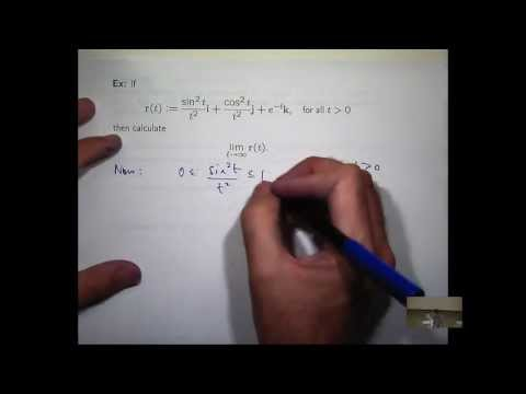 Limit of vector function: an example