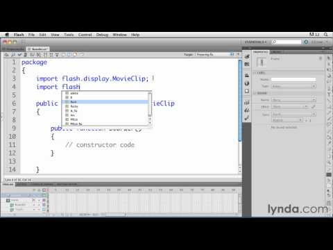 Flash tutorial: How to organize ActionScript classes | lynda.com