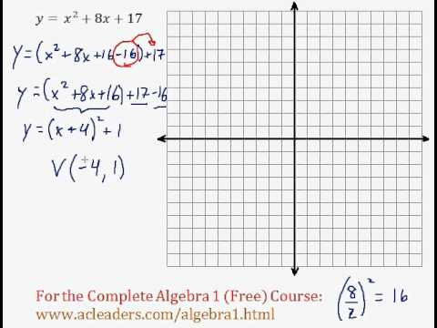 Quadratics - Graphing Quadratic Functions (General Form) Pt. 1