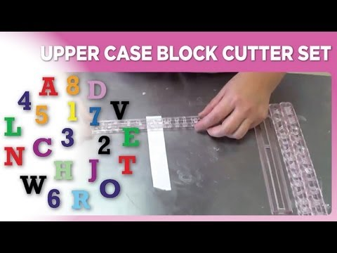 Upper Case Block Cutter Set