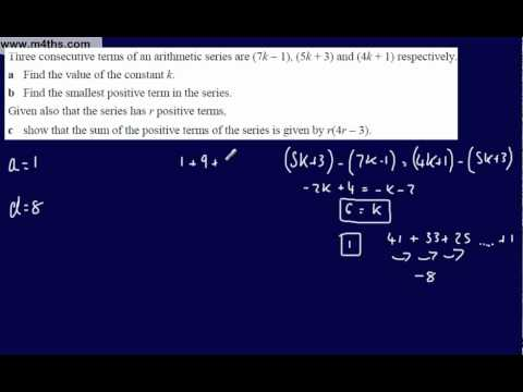 (11) Core 1 Arithmetic Sequences & Series (Hard exam question)