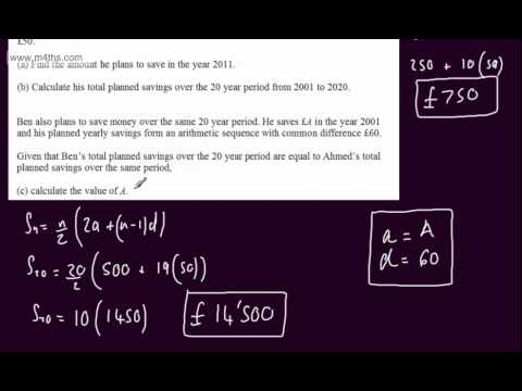 (Q7) Core 1 Specimen Edexcel Paper