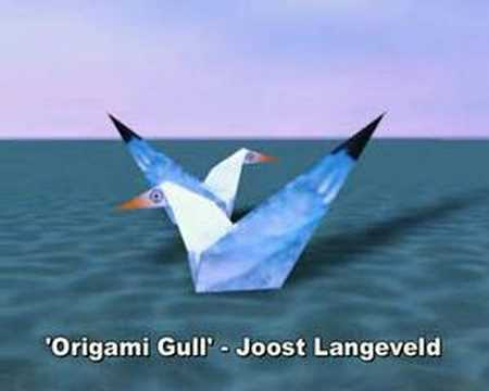 Origami Gull Animation