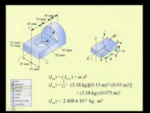 Mod-7 Lec-17 Principle Mass Moments of Inertia