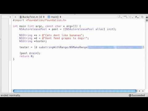 Objective C Programming Tutorial - 54 - Substrings and Ranges