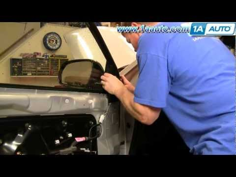 How To Install Replace Broken Side Rear View Mirror Nissan Murano 03-07 1AAuto.com