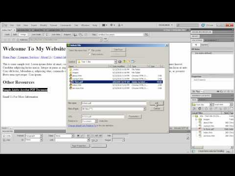Introduction to Dreamweaver CS5 - Part 5