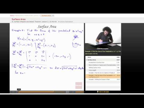 Multivariable Calculus: Surface Area