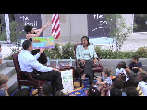 Susan Rice & Tony Miller Read to Students