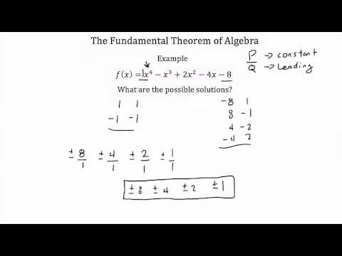 The Fundamental Theorem of Algebra PT 1