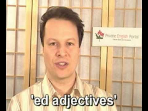 Learn English with Steve Ford-Peppy 12('ed adjectives')