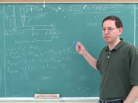 Rotational statics and dynamics problems (7)