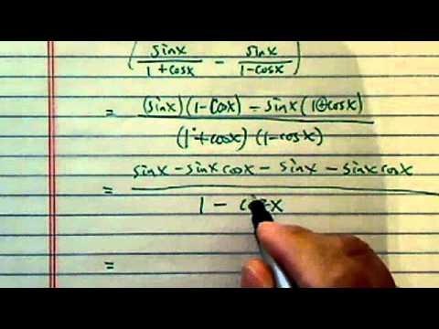 Simplify Trig Expressions