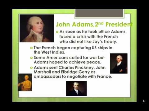 John Adams Presidency and the XYZ Affair