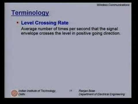 Lecture 13 - Mobile Radio Propagation Contd