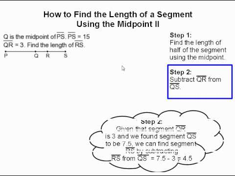 How to Find Part of a Segment Using the Midpoint