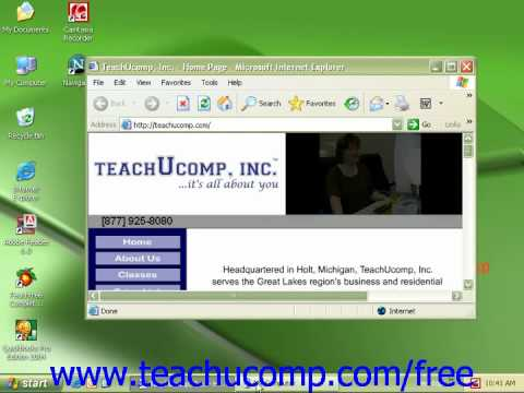 Windows XP Tutorial Using Windows Microsoft Training Lesson 1.5