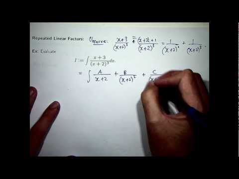 Partial fractions integration