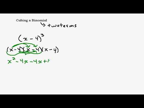 Cubing a Binomial - Taking a Binomial to the Third Power