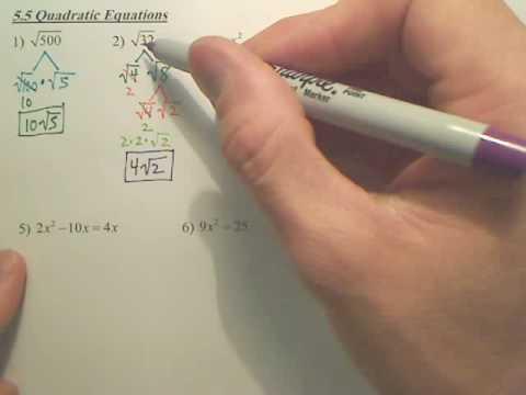 Algebra 2   5.5a