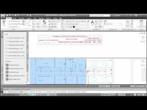 Working with Schedules: AutoCAD MEP 2013