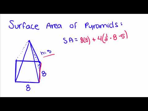 Introduction to Geometry - 61 - Surface Area of a Pyramid