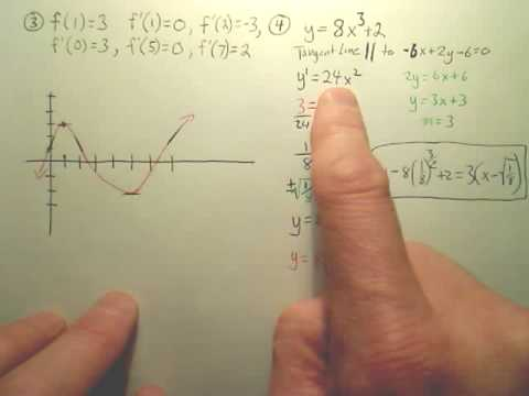 Ch 2 Test Review (Derivatives)b - Calculus