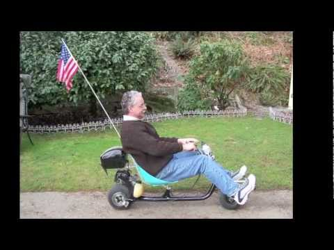 Recumbent scooter for high mileage cheap transportation