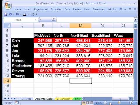 Excel Basics #20: Data Analysis Pivot Tables PivotTables