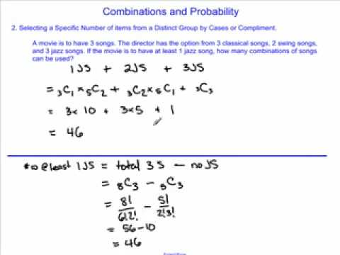 Work with Combinations