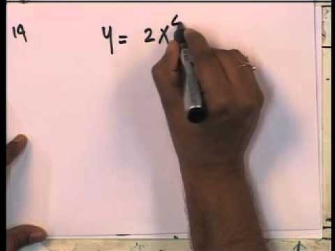 Mod-01 Lec-08 Differentiation and its application(Contd...)