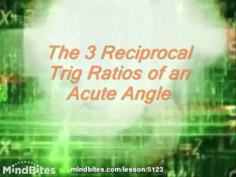 Trigonometry: Basic Trig Part II sec, csc & cot 315