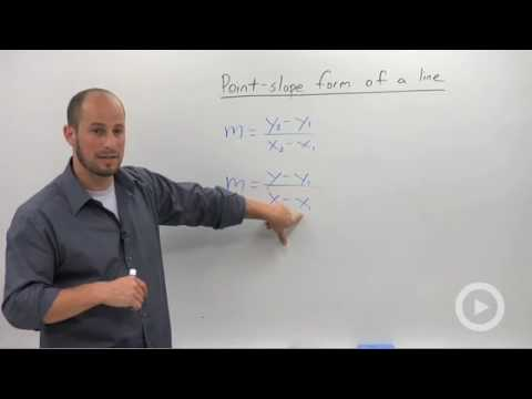 Algebra 2 - Point-Slope Form of a Line