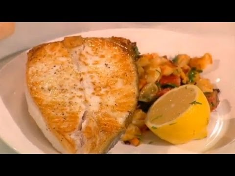 Halibut with Chorizo and Butter Beans Part 2 - Saturday Kitchen - BBC