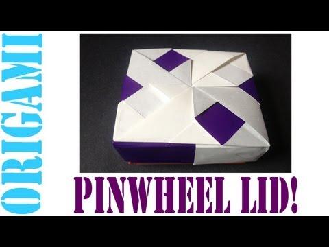Origami Daily - 014: Square Box (Pinwheel LID) version 3 - TCGames [HD]