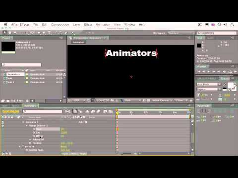After Effects CS4 Essentials Composition Animators