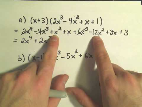 Multiplying Polynomials - Slightly Harder Examples  #1
